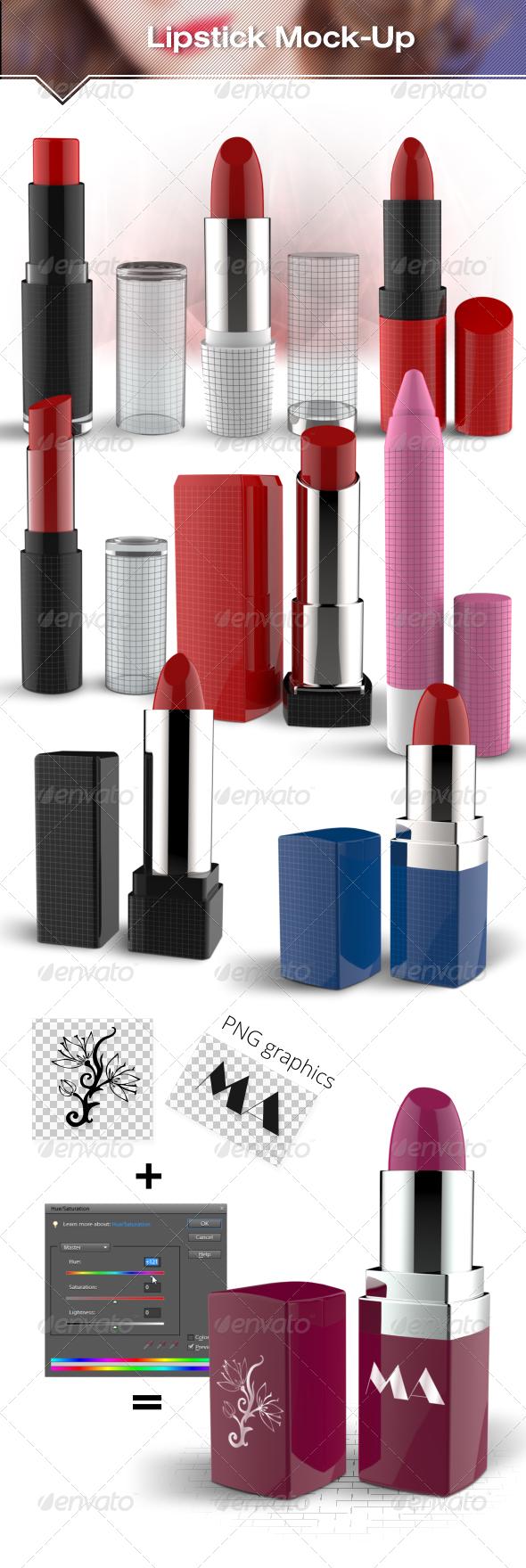 GraphicRiver Lipstick Mockup 7122404
