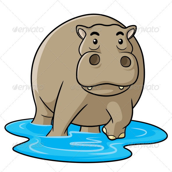 GraphicRiver Hippo Cartoon 7122578