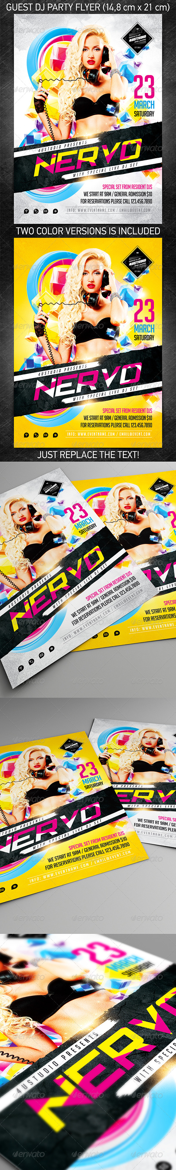 Guest DJ party flyer vol.3 - Clubs & Parties Events