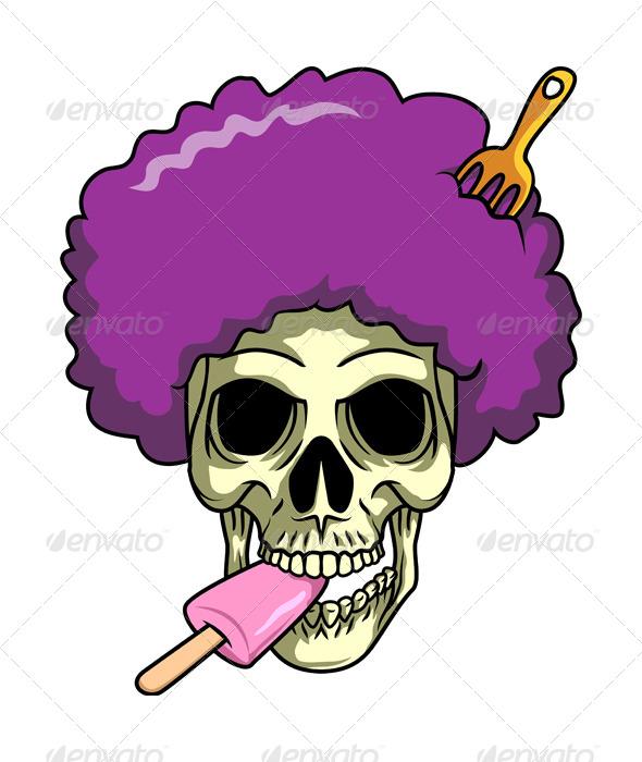 GraphicRiver Afro Skull 7122830