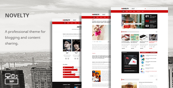 ThemeForest Novelty Content Sharing WordPress Theme 7123199