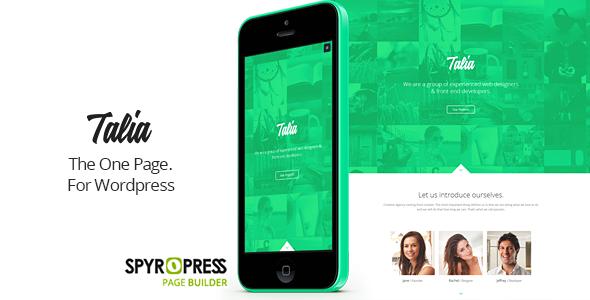ThemeForest Talia Responsive One Page WordPress Theme 7123394