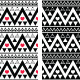 Tribal Aztec Seamless Pattern with Heart  - GraphicRiver Item for Sale