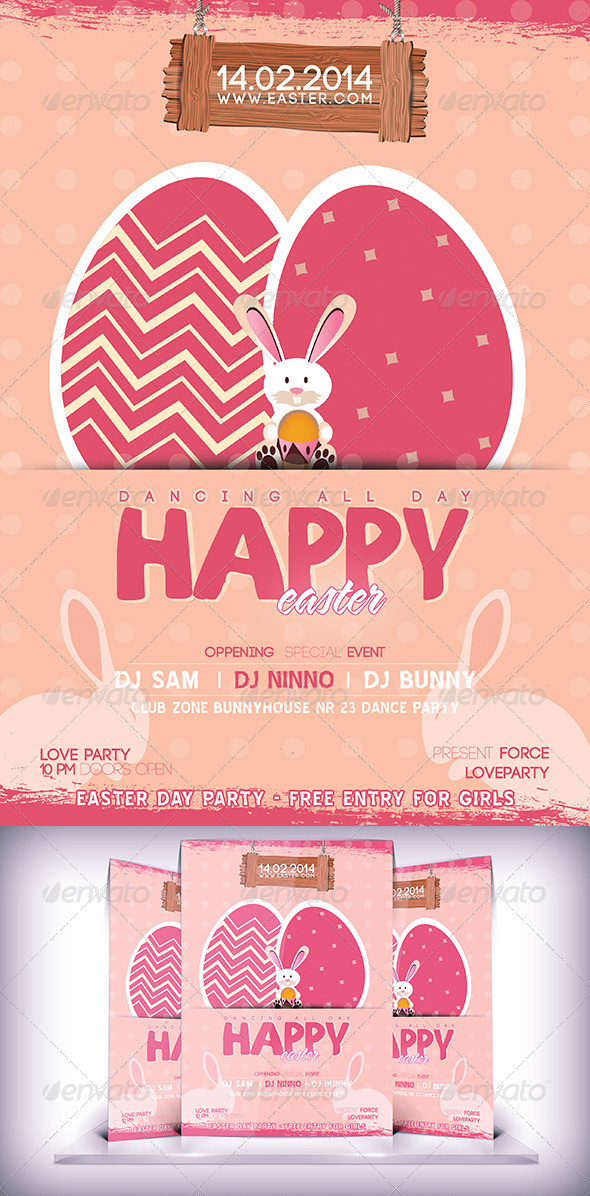 GraphicRiver Easter Party Flyer 7085133