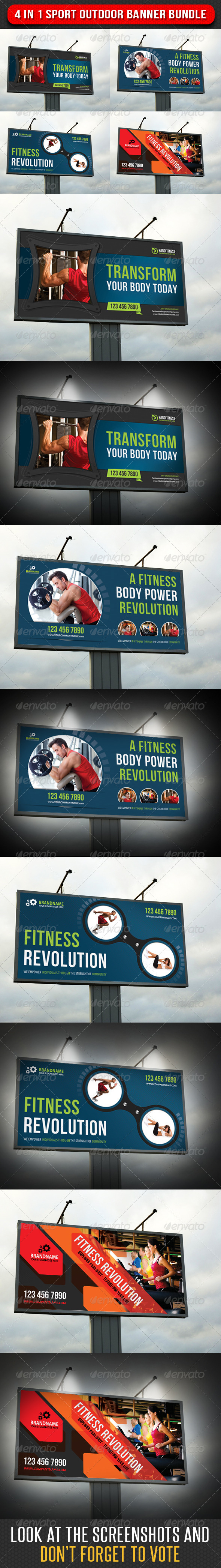 GraphicRiver 4 in 1 Sport Outdoor Banner Bundle 02 7124758