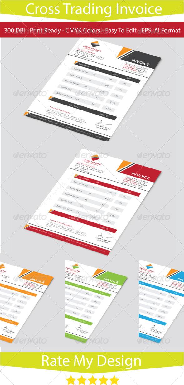 GraphicRiver Cross Business Invoice 7124906
