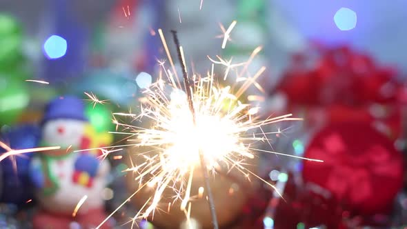 Sparkler For Christmas
