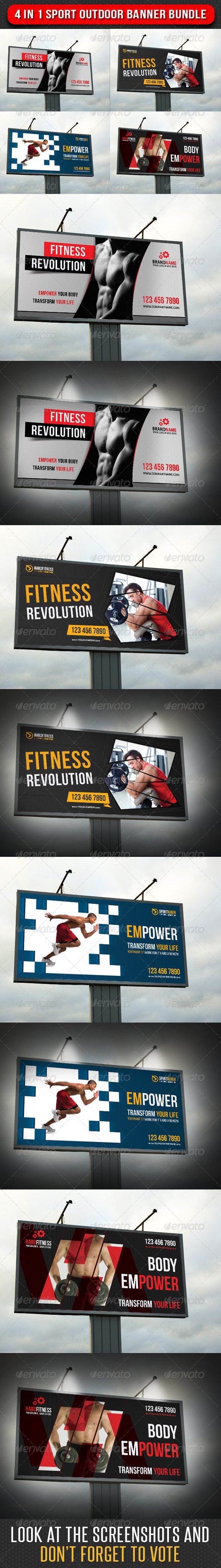 GraphicRiver 4 in 1 Sport Outdoor Banner Bundle 03 7125554