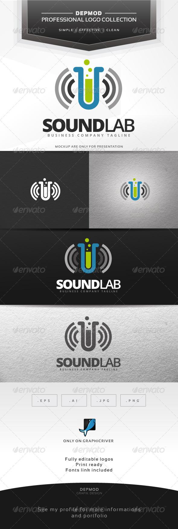 GraphicRiver Sound Lab Logo 7125647