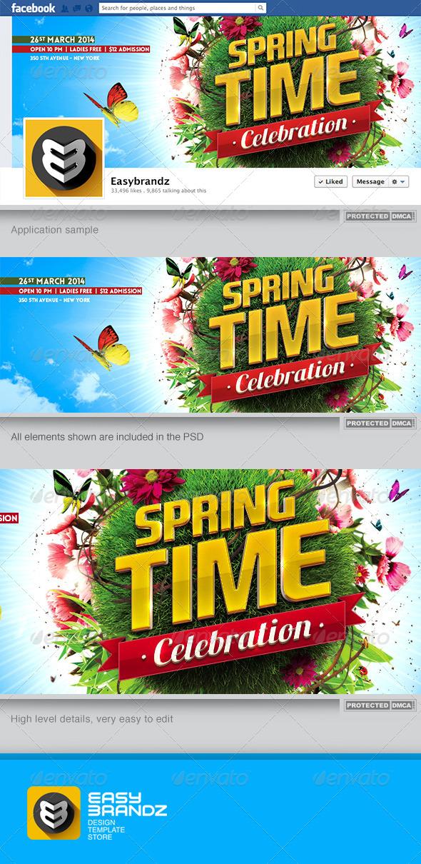 GraphicRiver Spring Celebration Facebook Timeline 7125657