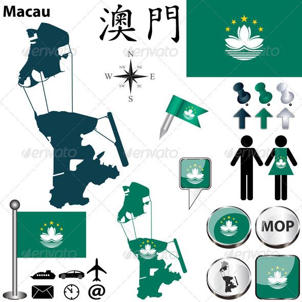 GraphicRiver Map of Macau 7126083