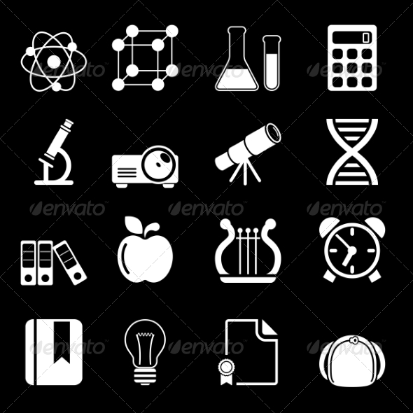 GraphicRiver White Education Icons Vol 2 7126501