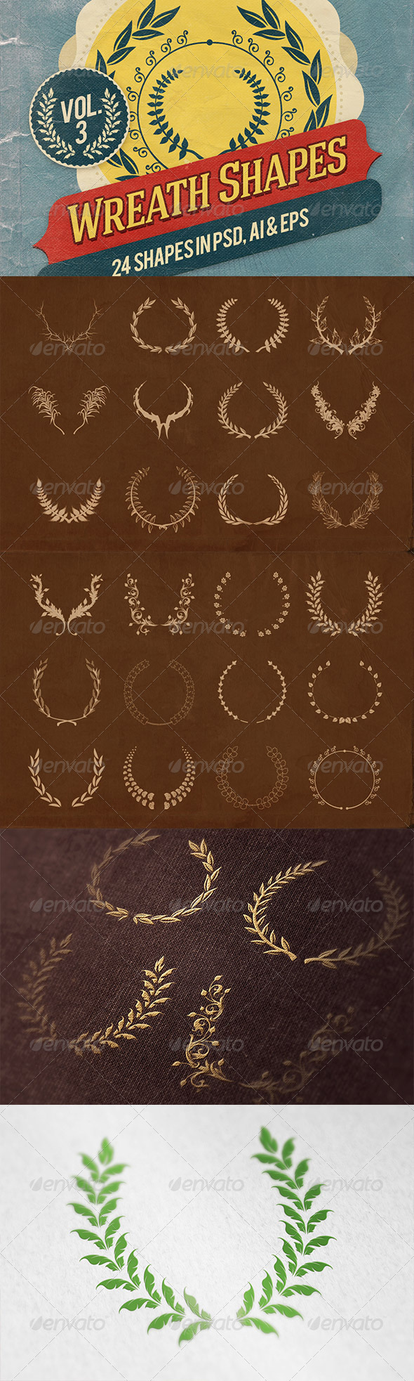 GraphicRiver Wreath Shapes Vol.3 7126582