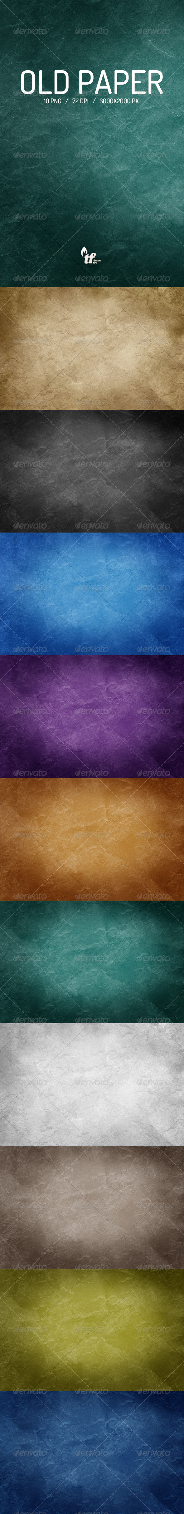 GraphicRiver Old Paper Backgrounds 7126810