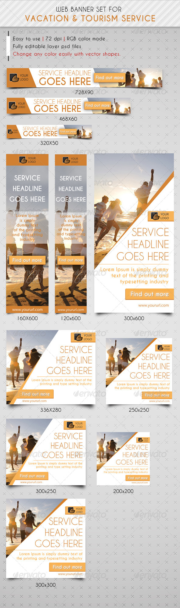 GraphicRiver Travel & Vacation Web Banner Ads 7126811