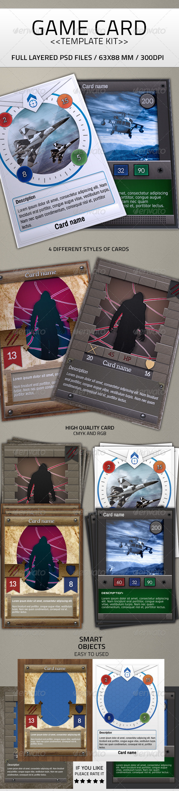 GraphicRiver Card Game Kit Template 7045786
