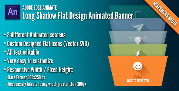 CodeCanyon Long Shadow Flat Design Banner 7126923