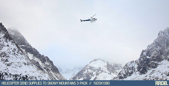 Helicopter Send Supplies to Snowy Mountains 3-Pack
