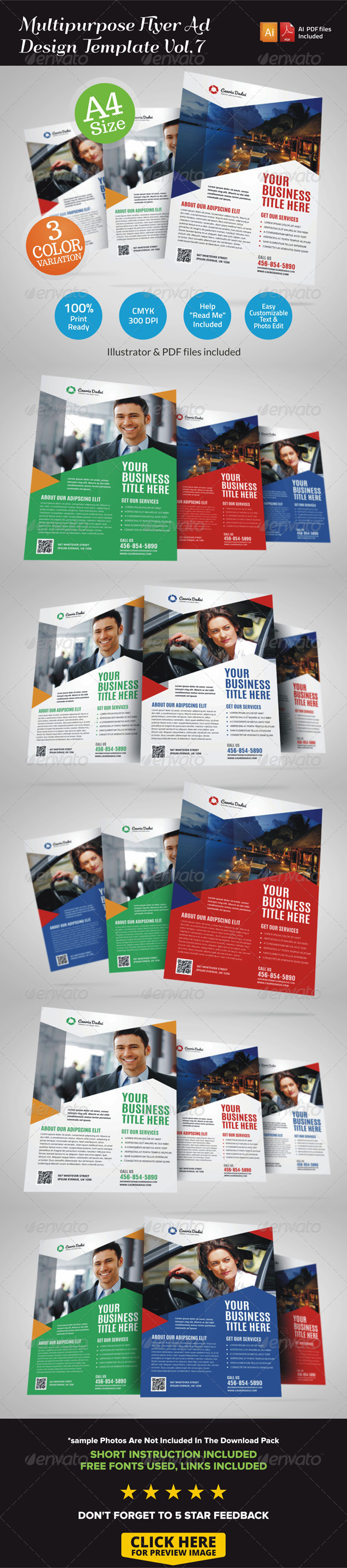 GraphicRiver Multipurpose Business Flyer Template Vol.7 7127081