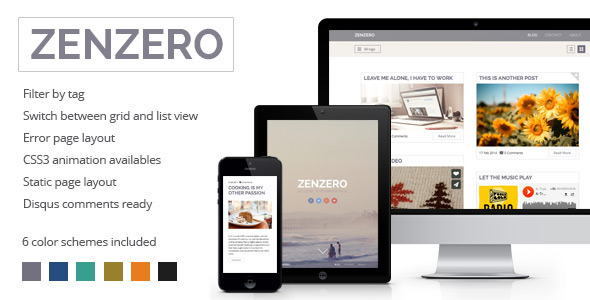 Zenzero - Multipurpose Responsive Theme - Ghost Themes Blogging