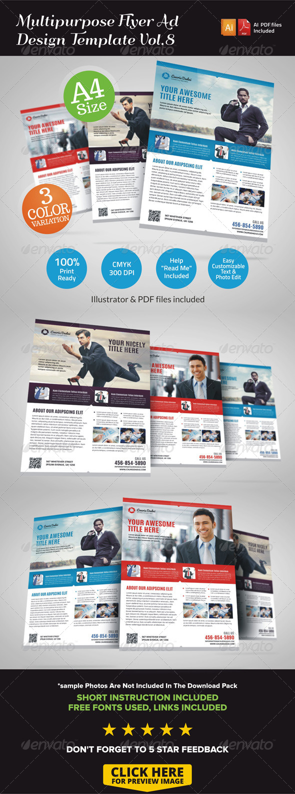 GraphicRiver Multipurpose Business Flyer Template Vol.8 7127314