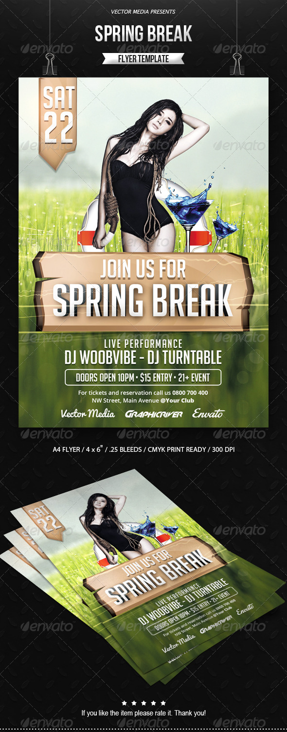 GraphicRiver Spring Break Flyer 7127319