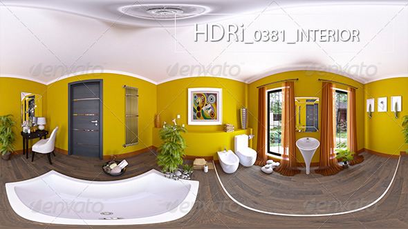 0381 Interoir HDRi - 3DOcean Item for Sale