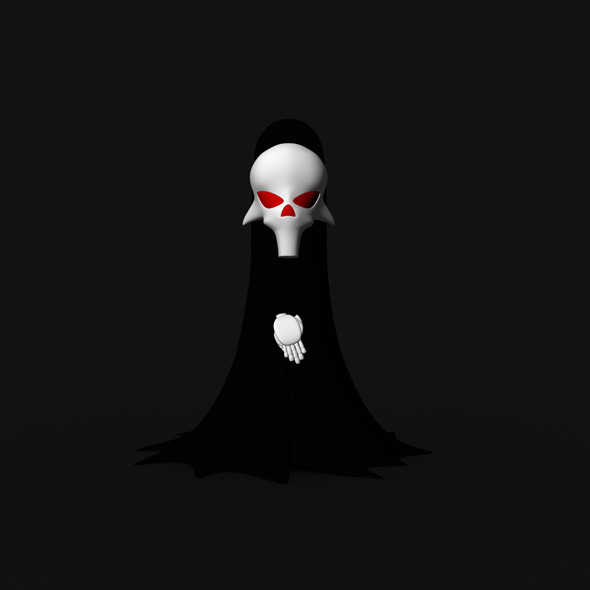 3d Cartoon Ghost - 3DOcean Item for Sale
