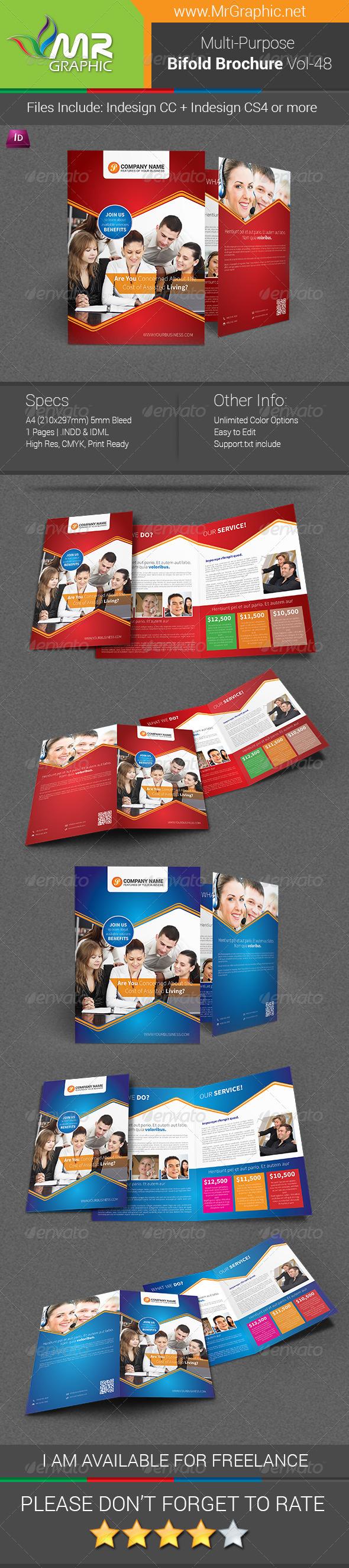 GraphicRiver Multipurpose Bifold Brochure Template Vol-48 7127502