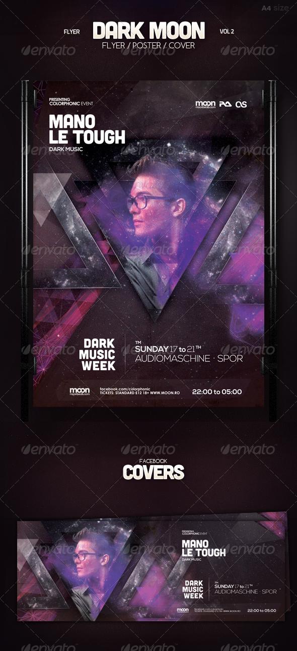 Dark Moon Flyer Vol 2 - Clubs & Parties Events