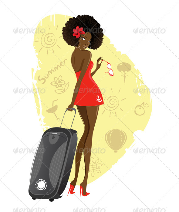 GraphicRiver Girl with a Suitcase 7127646