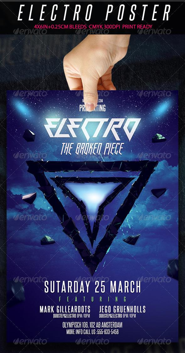 GraphicRiver Electro Flyer The Broken Piece 7127789