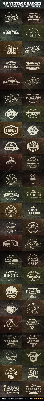 GraphicRiver 48 Vintage Badges and Labels Bundle 7094167