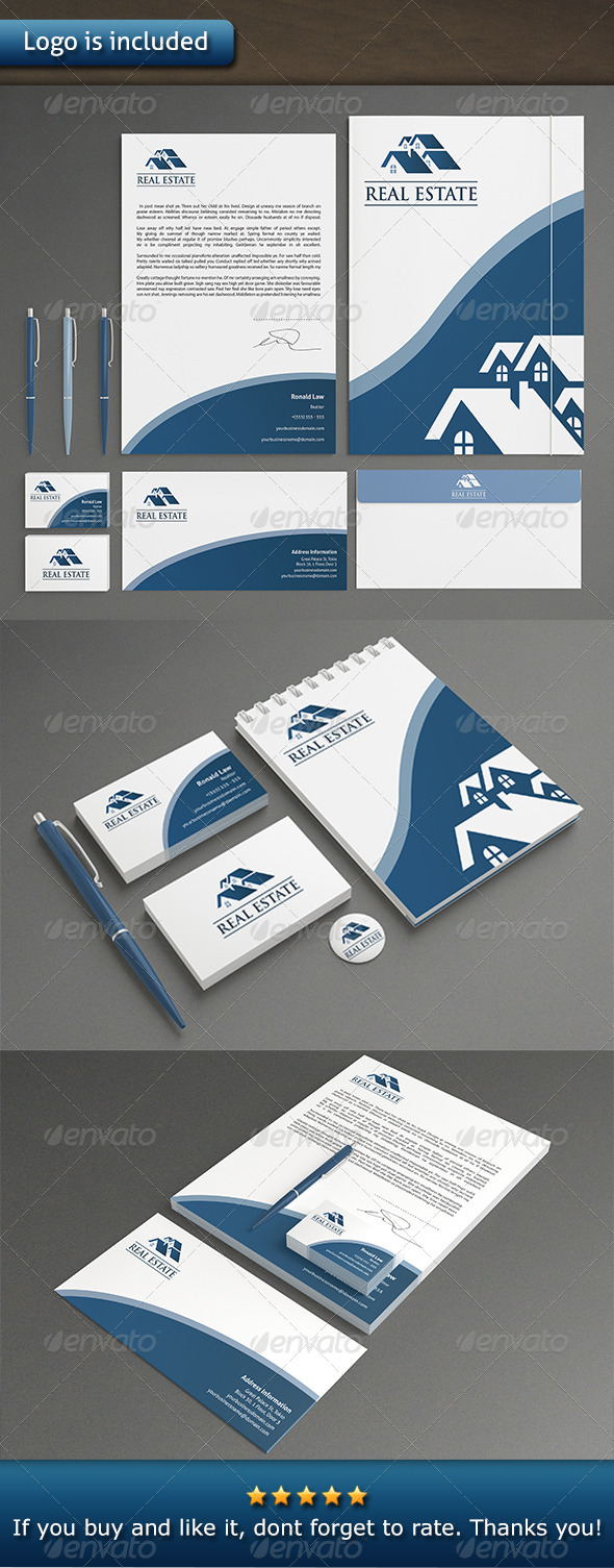 GraphicRiver Real Estate Stationery 7127898