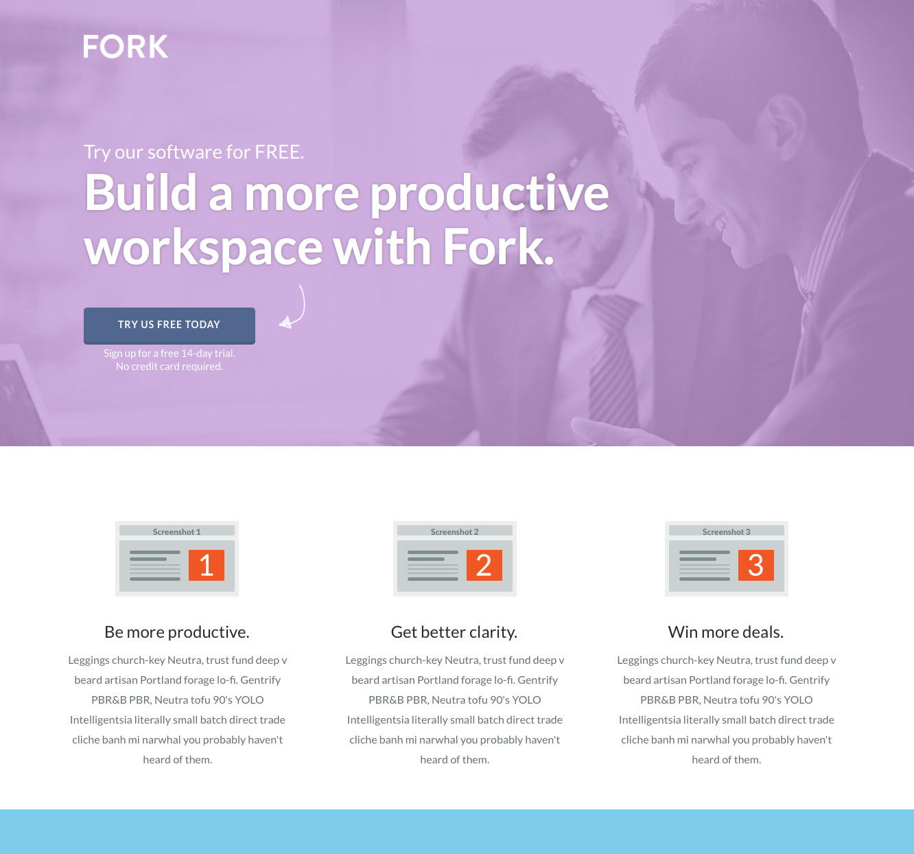 FORK - Unbounce Template
