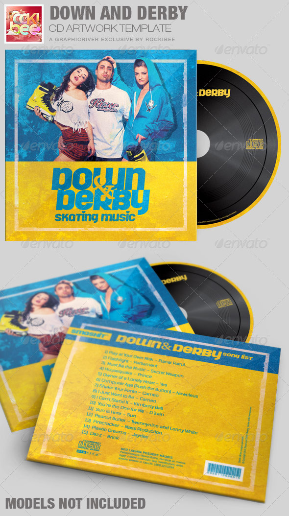 GraphicRiver Down and Derby Skating CD Artwork Template 7128038