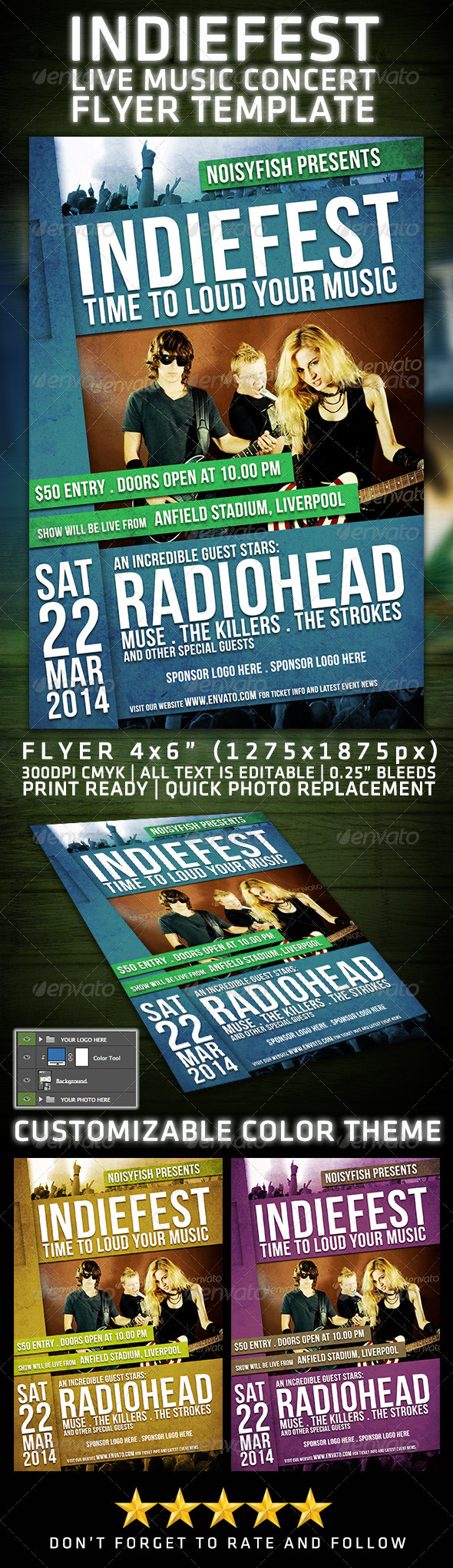 GraphicRiver Indiefest Live Music Flyer 7106347