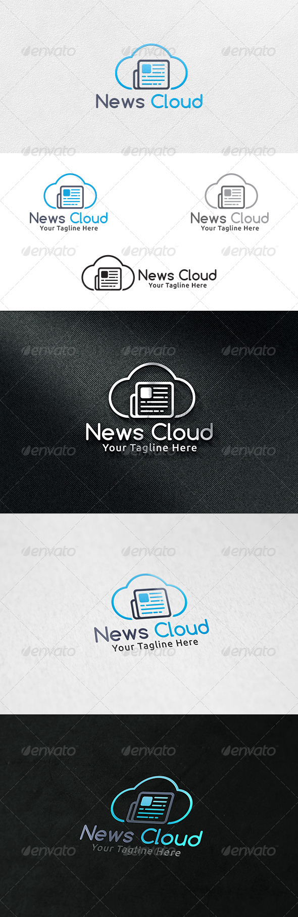 GraphicRiver News Cloud Logo Template 7128556