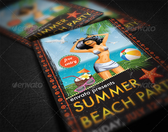 GraphicRiver Summer Party Flyer 7129284