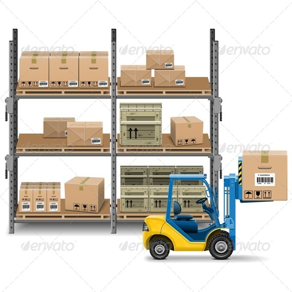 GraphicRiver Storage with Forklift 7129306
