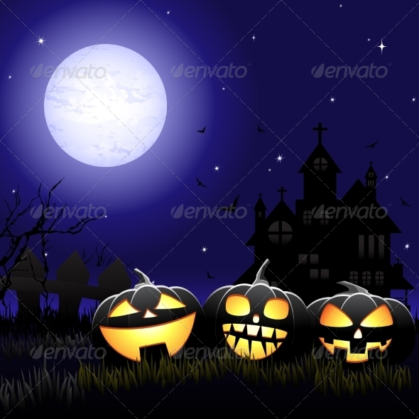 GraphicRiver Halloween Background 7129312