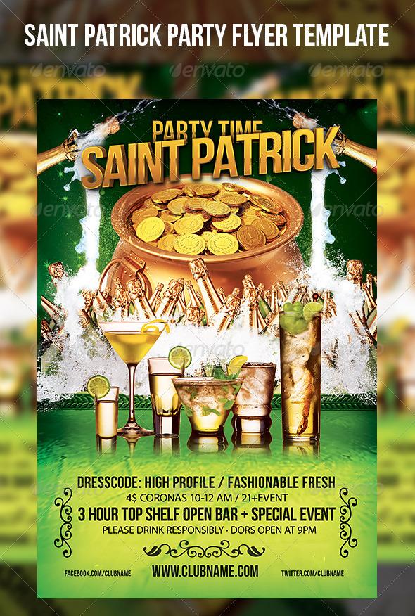 Saint Patrick Party Flyer Template