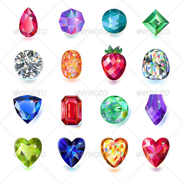 GraphicRiver Colored Gems 7129411