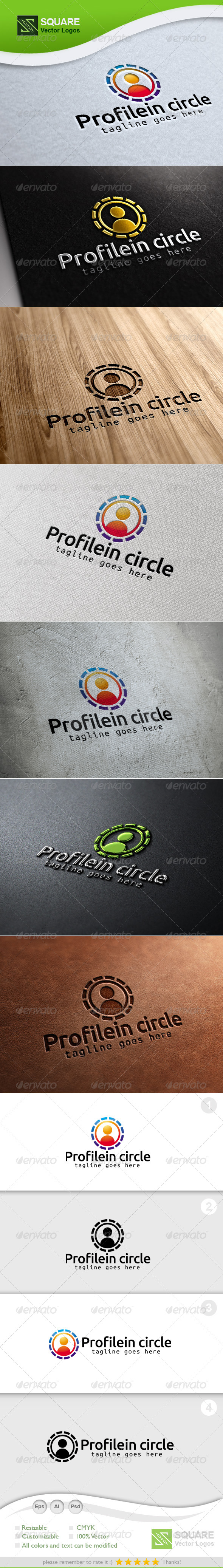 Circle, Human Vector Logo Template - Humans Logo Templates