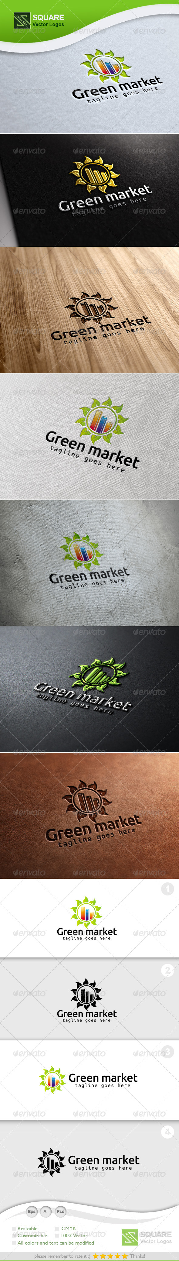 GraphicRiver Leafs Market Vector Logo Template 7129599