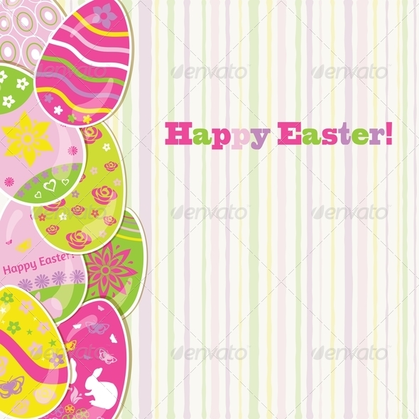 GraphicRiver Easter Background with Paper Eggs 7129763