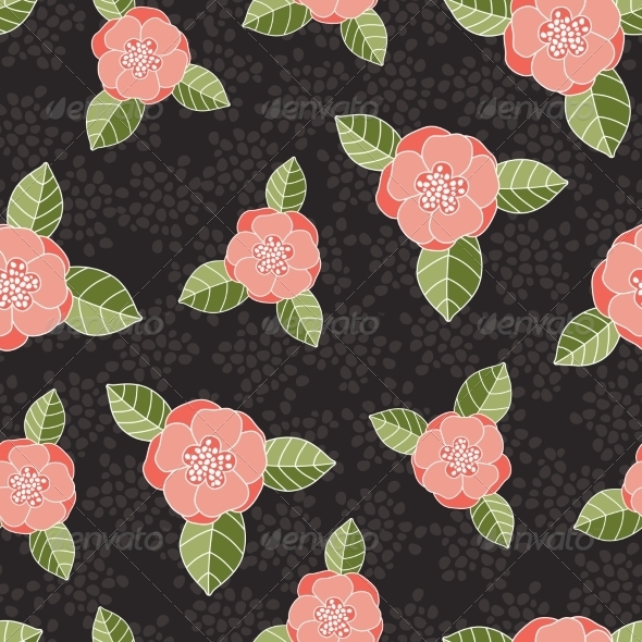 GraphicRiver Seamless Rose Pattern 7129836