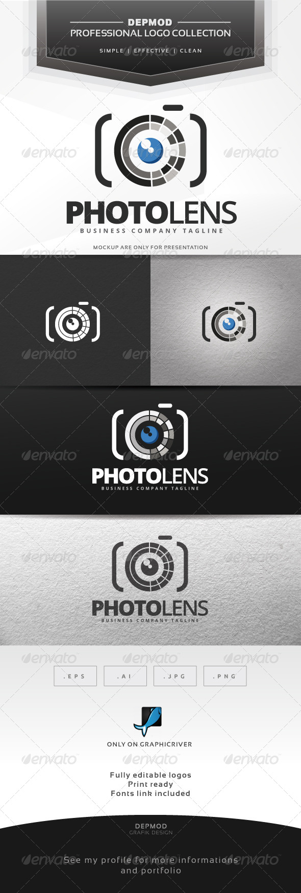 GraphicRiver Photo Lens Logo 7129848
