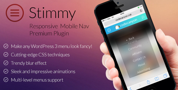 CodeCanyon Stimmy responsive mobile nav for WordPress 7130668