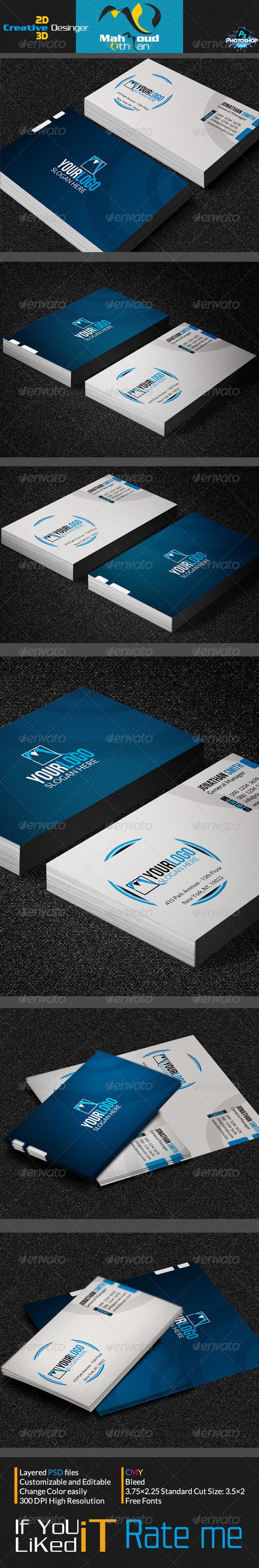 GraphicRiver Corporate Business Card 01 7131522